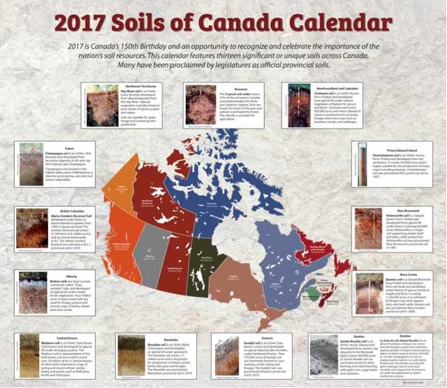 2017 Soils of Canada Calendar